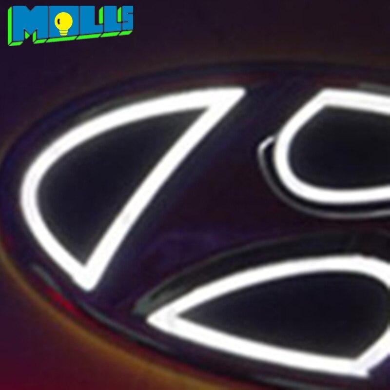 Auto Logo Embleem Licht Voor Hyundai Ix35 Tucson I30 Verna Elantra