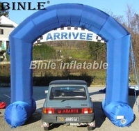 High quality free standing blue inflatable arch air blown archway gantry with arrivee banner for sale