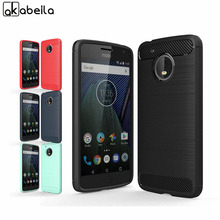 AKABEILA Phone Cover Case For Motorola Moto G5 5.0 inch Cases Cover Carbon Fibre Brushed TPU Shell Hood Bag
