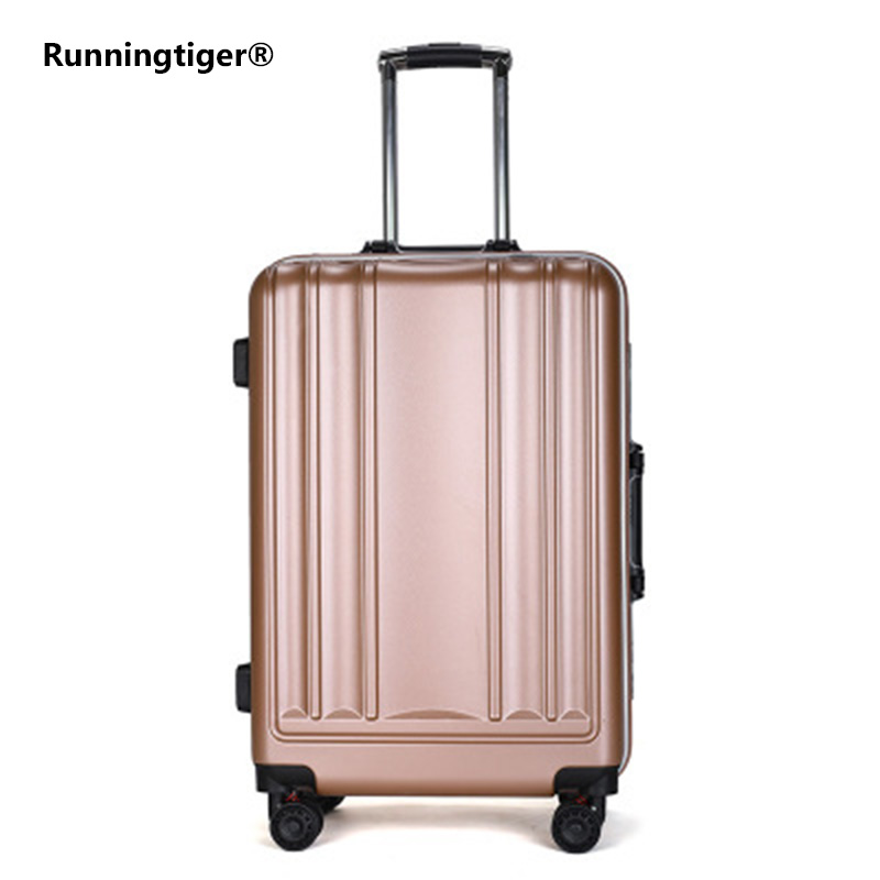Nice New Usb Charging Port Suitcase Aluminum Frame Brake Shock Absorber Trolley Case Woman 24inch Travel Luggage 20 Boarding Sewheel Luggage & Bags