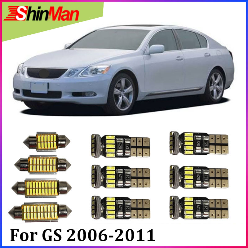 ShinMan 8x Error Free <font><b>LED</b></font> CAR Light Car <font><b>LED</b></font> Interior Car lighting For Lexus GS gs350 gs450h gs460 <font><b>LED</b></font> Interior Light 2006-2011 image