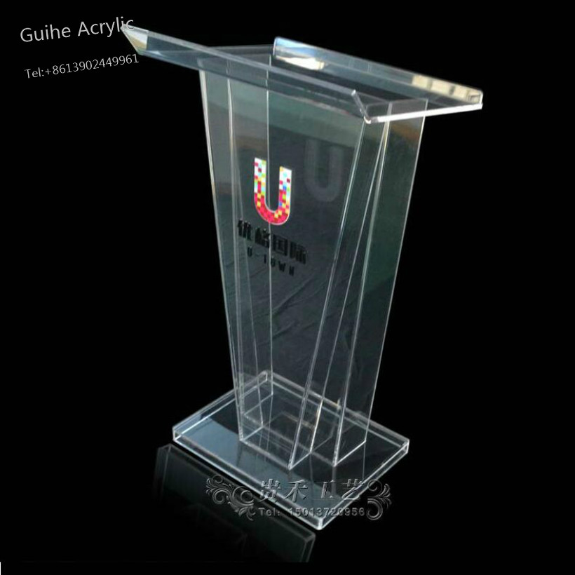 Desks AdirOffice Stand up, Floor-standing Podium, Lectern with Adjustable Shelf and Pen/Pe Furniture Office Furniture Reception beautiful price reasonable clean acrylic podium pulpit lectern