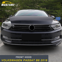 GELINSI Front Hood Middle Net Grille Refit Frame Cover Sticker Exterior Accessories For Volkswagen Passat B8 2018 Car Styling