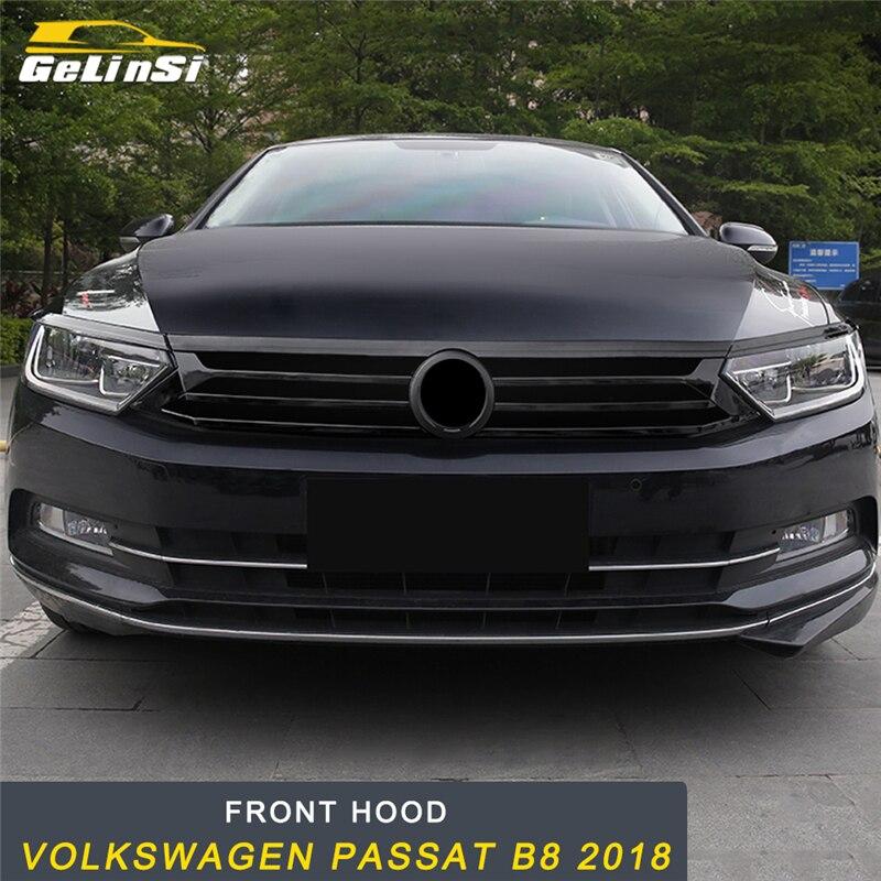 GELINSI capot avant moyen filet Grille Refit cadre couverture autocollant accessoires extérieurs pour Volkswagen Passat B8 2018 voiture style