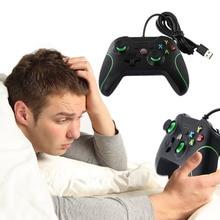 Новый Проводной Игровые ПК USB Проводной Регулятор Игры Геймпад с Двойной Вибрации для XBOX ONE