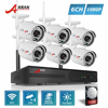 ANRAN Plug And Play P2P WIFI 8CH NVR Video Security System 6PCS Outdoor 36 IR Night