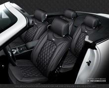 For Opel Astra Zafira Meriva Ampera Agila Corsa Black Car Soft Leather Seat Cover Front Rear