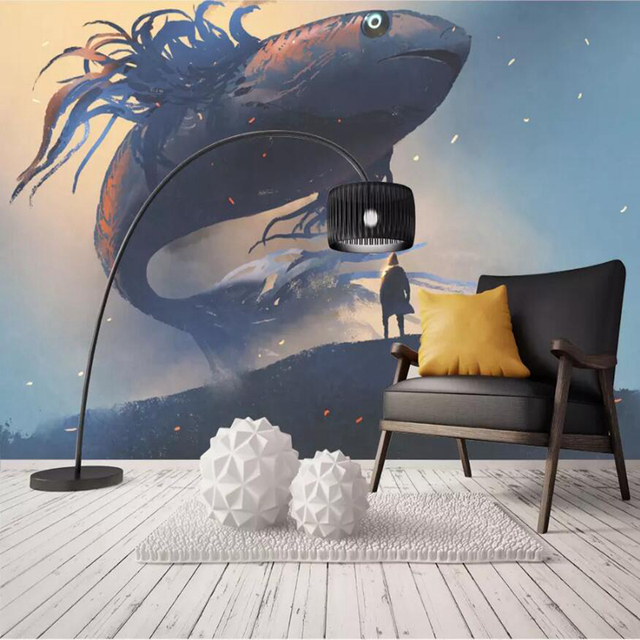 Wallpapers Youman Custom Photo Wallpaper For Walls 3 D Shark Modern Baby Room Decor Wall Mural