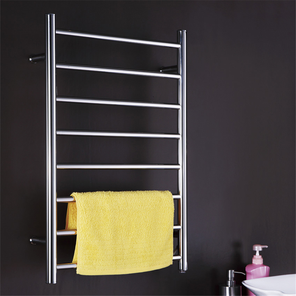 1pc Heated Towel Rail Holder Bathroom Accessories Towel: Matt Polish Stainless Steel 304 Electric Wall Mounted