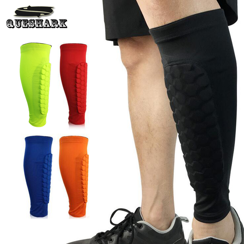 1Pcs Anti-collision Football Shin Guard Basketball Calf Support Compression Muscle Socks Running Leg Sleeve Cycling Leg Warmers ombre circle calf length socks