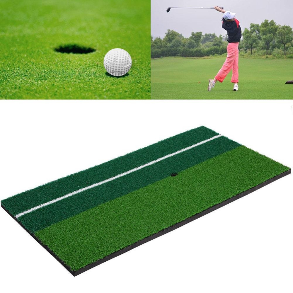New Backyard Golf Mat 12x 24 Residential Training Hitting Pad Practice Rubber Tee Holder Grass Outdoor Indoor