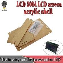 Przezroczysta powłoka akrylowa do ekranu LCD LCD2004 ze śrubą/nakrętką LCD2004 pojemnik do przechowywania powłoki (nie z 2004 LCD)