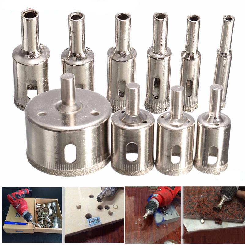 Diamond Hole Saw 3mm-50mm Diamond Glass Drill Bit Tile Ceramic Glass Porcelain Marble Drill Bits Hole Saw High Quality best price 10pcs 3mm 50mm hole saw drill bit set diamond tile glass marble ceramic cutter power tool set