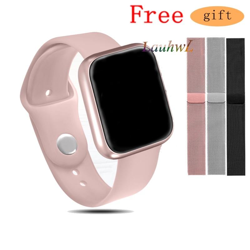 Women Fashion P70 Smart Watch Ip68 Waterproof Heart Rate Blood Pressure For Iphone Men Sport Fitness Tracker Smartwatch PK IWO 5