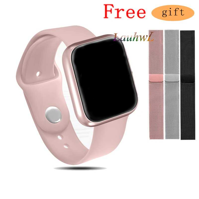 Women Fashion P70 Smart Watch Ip68 Waterproof Heart Rate Blood Pressure For Iphone Men Sport Fitness Tracker Smartwatch PK IWO 5