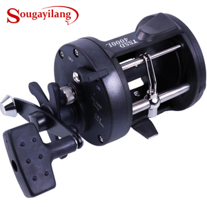 Sougayilang 3.8:1 Right Hand Black Baiting Casting Drum Type Fishing Line Reels Wheel Casting Fishing Reel