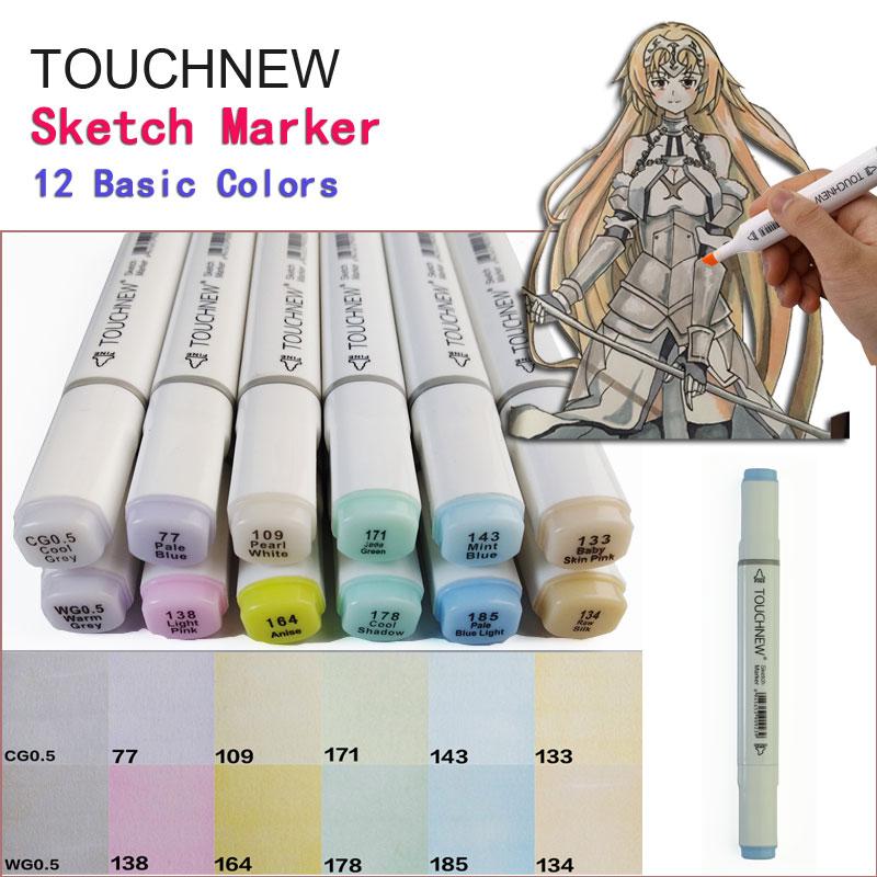Touchnew Pastel Colors Serie  EX-4 Set 12 Basic Colors Excessive Manuscript chancellor manuscript the