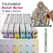 Touchnew Pastel Colors Serie  EX-4 Set 12 Basic Colors Excessive Manuscript