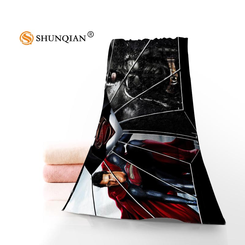Custom Superman VS Batman 35x75cm 70x140cm Towels Facecloth Bath Towel Bamboo Fiber Washcloth Quick drying Sports Towel