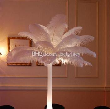 14-16 Inch White Ostrich Feather Plume Craft Supplies Wedding Party Table Centerpieces Decorations supply 100pcs/lot 1