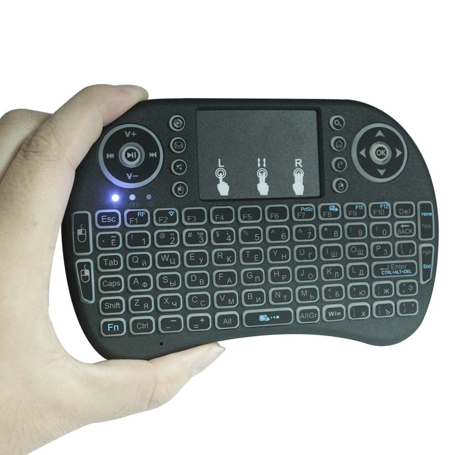 Venemaa / Inglise 2.4GHz traadita taustvalgustuse klaviatuur hiire - Arvuti välisseadmed - Foto 2
