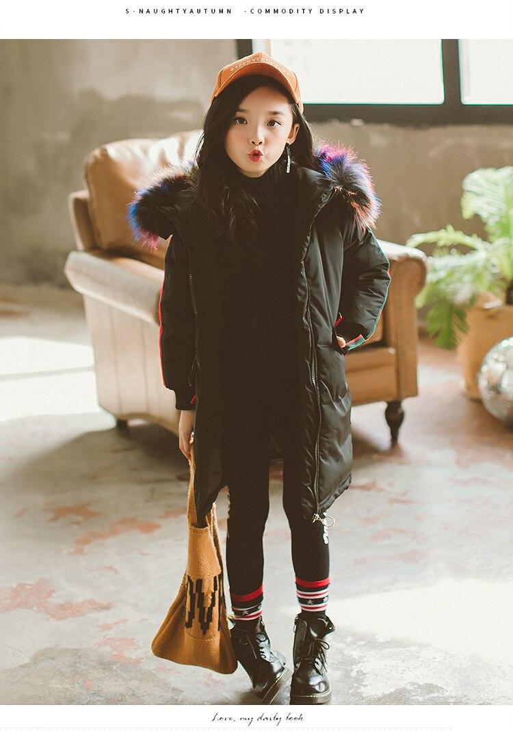 2018 New Arrival Fur hooded Kids Winter Jacket Girls warm coats Girls Winter Coat