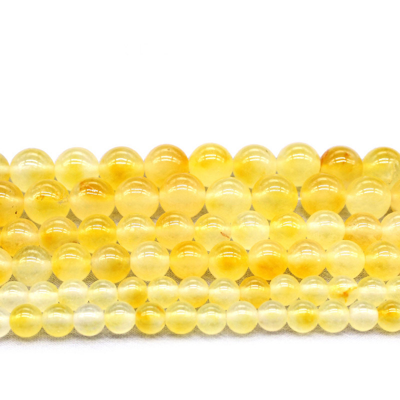 4mm 6mm 8mm 10mm Natural Citrines Yellow Crystal Quzrtz Round Beads For Jewelry Making 15'' Strand DIY Necklace Bracelet