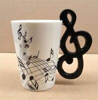 Notes de musique tasse en céramique lemon thé lait tasse tasses à café musical articles verres note tasses grand cadeau