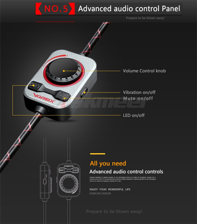 USB Gaming Headphones with Micrphone 7.1 Surround Sound Stereo Glowing Headset (14)