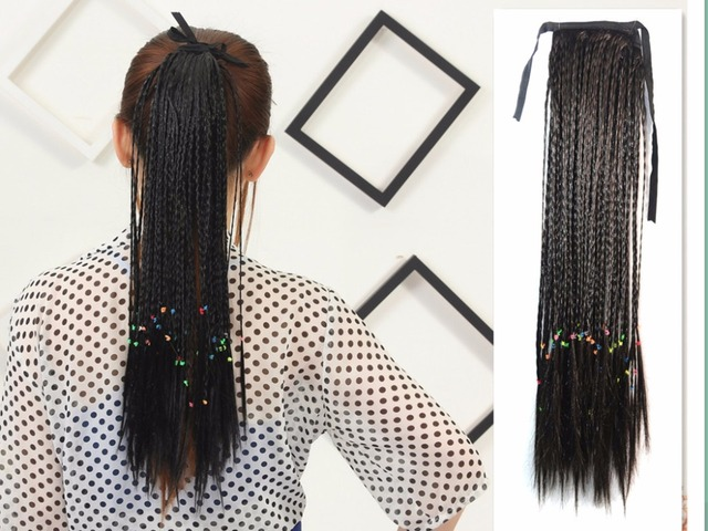 Braids Weave Hair Ponytails Drawstring Ponytail Extensions Wrap On
