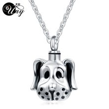 UNY Trendy Stainless Steel Dog Pet Mm Abu Liontin Parfum botol Memorial Abu Kremasi Kenang-kenangan Perhiasan Kalung Kapal Gratis(China)