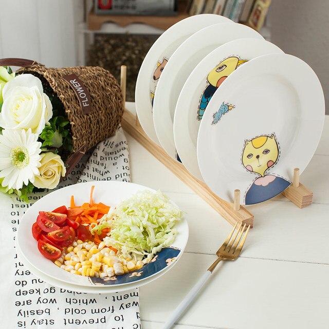 1PC Original Animal Ceramic Dinner Plate Household Soup Plates Porcelain Deep Dishes Pasta Noodels Tableware Supply & 1PC Original Animal Ceramic Dinner Plate Household Soup Plates ...