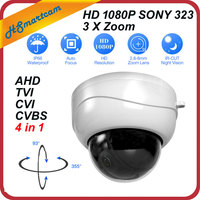 New Mini AHD Ptz Cameras With Full HD P2P Motorized 3X Zoom Lens 4 IN 1