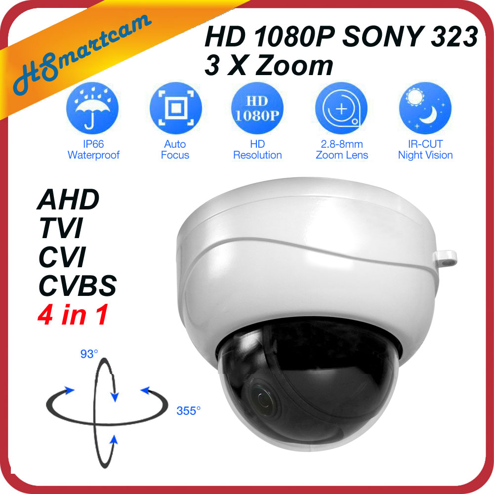 New mini AHD Ptz Cameras With Full HD P2P Motorized 3X Zoom Lens 4 IN 1 Camera 2MP 1080P AHD TVI CVI PTZ Camera For HD DVR Ktis 4 in 1 ir high speed dome camera ahd tvi cvi cvbs 1080p output ir night vision 150m ptz dome camera with wiper