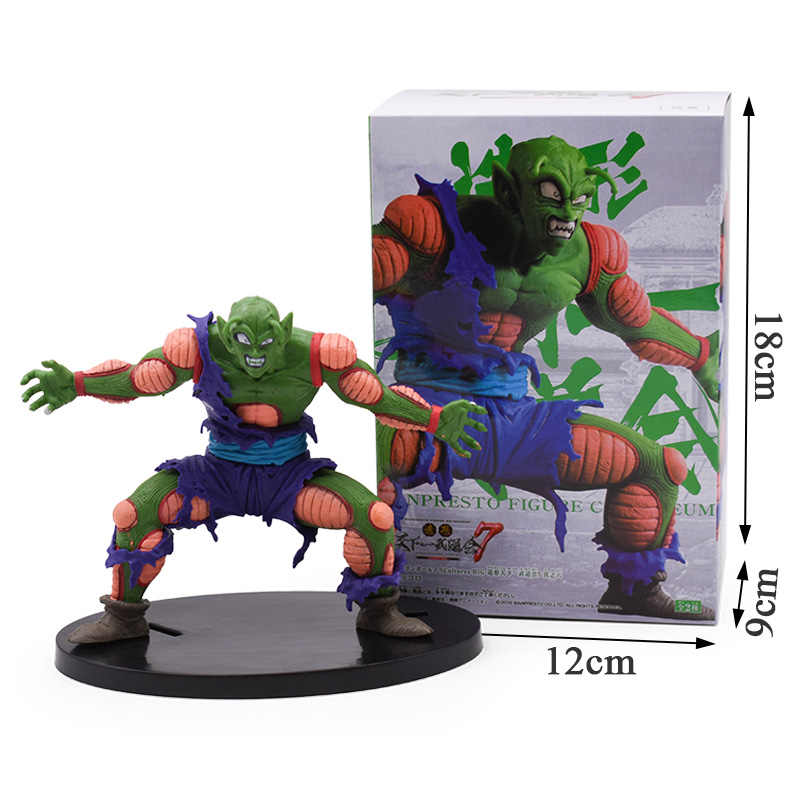 New Dragon Ball Z Piccolo Goku Battle Injured Ver. Outbreak Bick PVC Anime Figure DBZ Collection Model Toys For Kids Gift 12cm