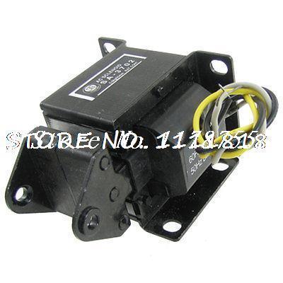 5kg Force 20mm Stroke AC 220V Push Type Solenoid Electromagnet цены
