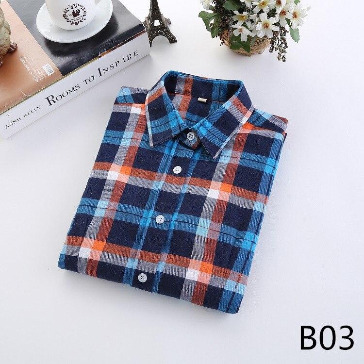 2018 Fashion Plaid Shirt Female College Style Women's Blouses Long Sleeve Flannel Shirt Plus Size Casual Blouses Shirts M-5XL 6