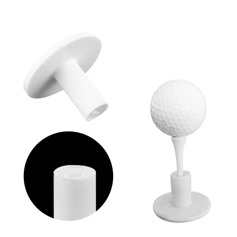 Durable Rubber Golf Tees Holder For Golf Driving Range Tee Practice Tool White W15