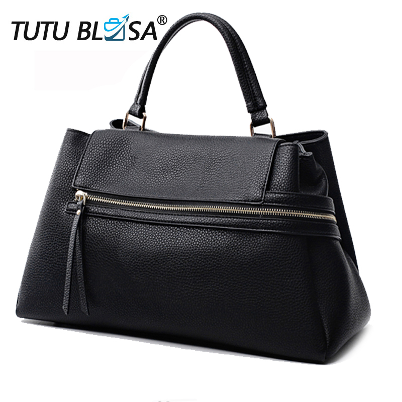 Luxury Women Leather Handbags Brand Designer Classic Zipper Shoulder big Bag Women s Tote Bag Bolsa