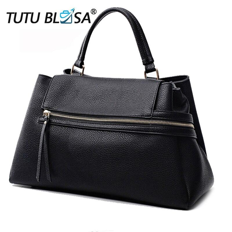 ผู้หญิงหรูหรากระเป๋าถือยี่ห้อ Designer คลาสสิกซิปไหล่ใหญ่กระเป๋าผู้หญิงกระเป๋าถือ Bolsa Feminina T105-ใน กระเป๋าหูหิ้วด้านบน จาก สัมภาระและกระเป๋า บน   1