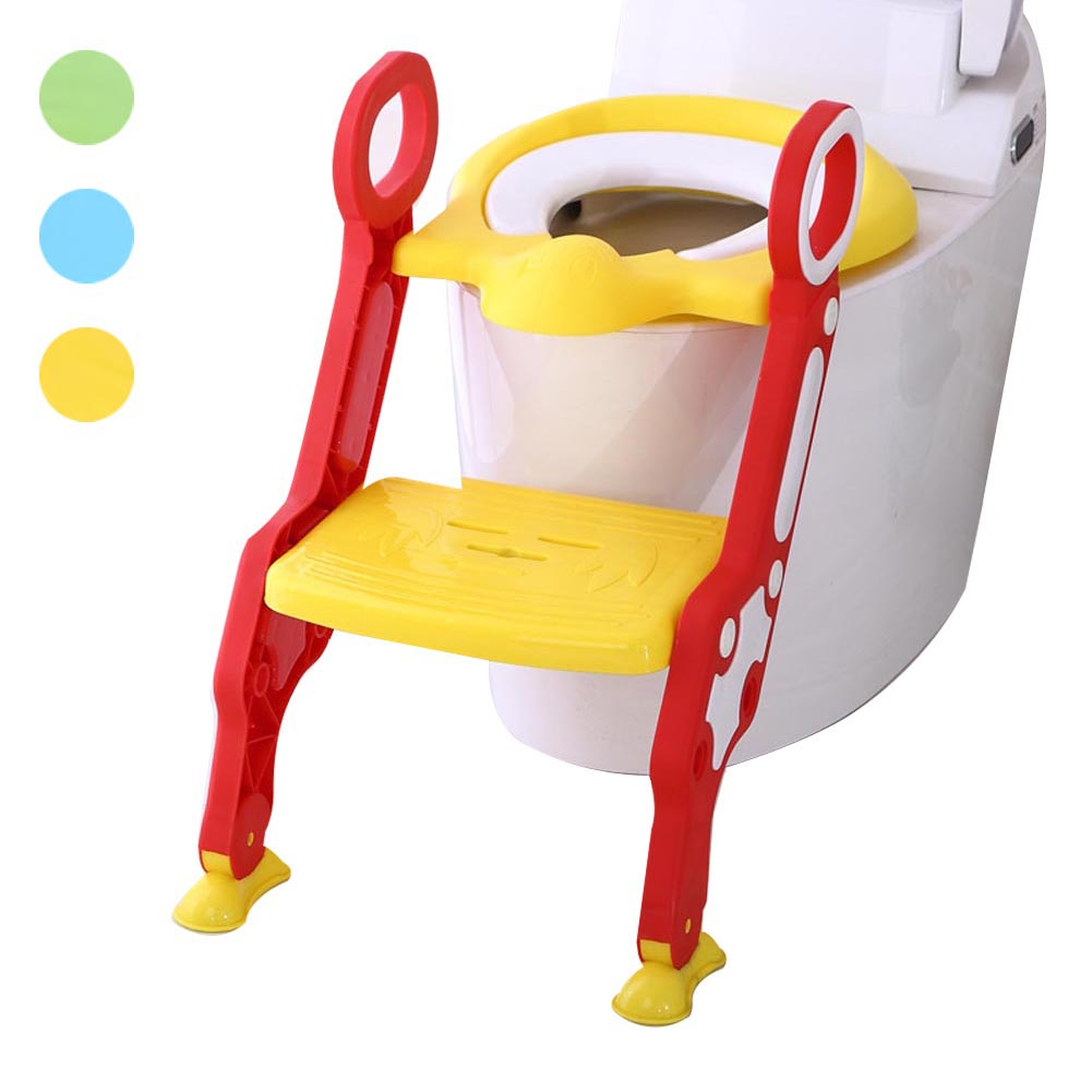 Baby Children Potty Seat with Ladder Cover Toilet Folding Chair Kids Pee Training Urinal Potties M09 children baby toilet seat ladder folding chair pee baby toilet safety penico potty ring step ladder stable seat training urinal