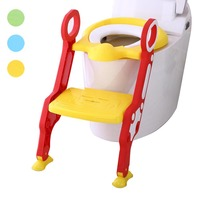 Baby Children Potty Seat with Ladder Cover Toilet Folding Chair Kids Pee Training Urinal Potties M09