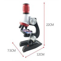 Measurement Analysis Instruments Microscope Kit Lab 100X 1200X Home School Educational Toy Gift For Kids Boys