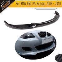 Auto Car Carbon Fiber Front Lip Splitter For BMW E60 M5 Bumper 2006 2010 Car Style