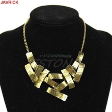 European Women Punk Metal Irregular Geometric Bib Statement Necklace Collar Chunky Jewelry #H058#