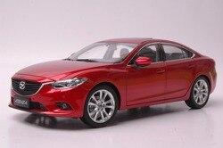 1:18 modelo fundido a presión para Mazda 6 Atenza sedán rojo aleación juguete colección de coches en miniatura regalo MX5 MX