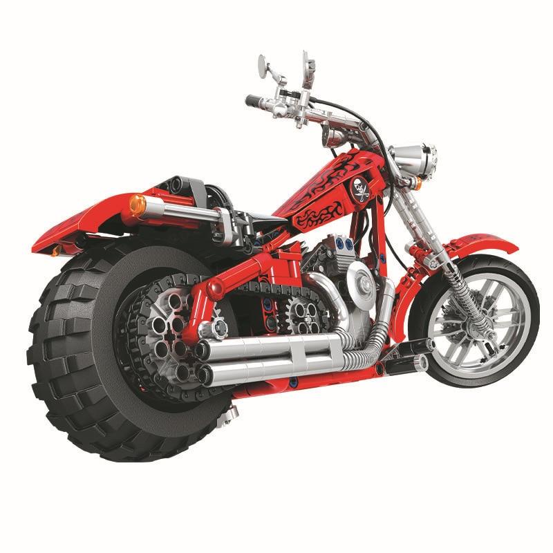 568 unids Diy Technic Series Cruising Motorcycle Building Blocks - Juguetes de construcción - foto 4