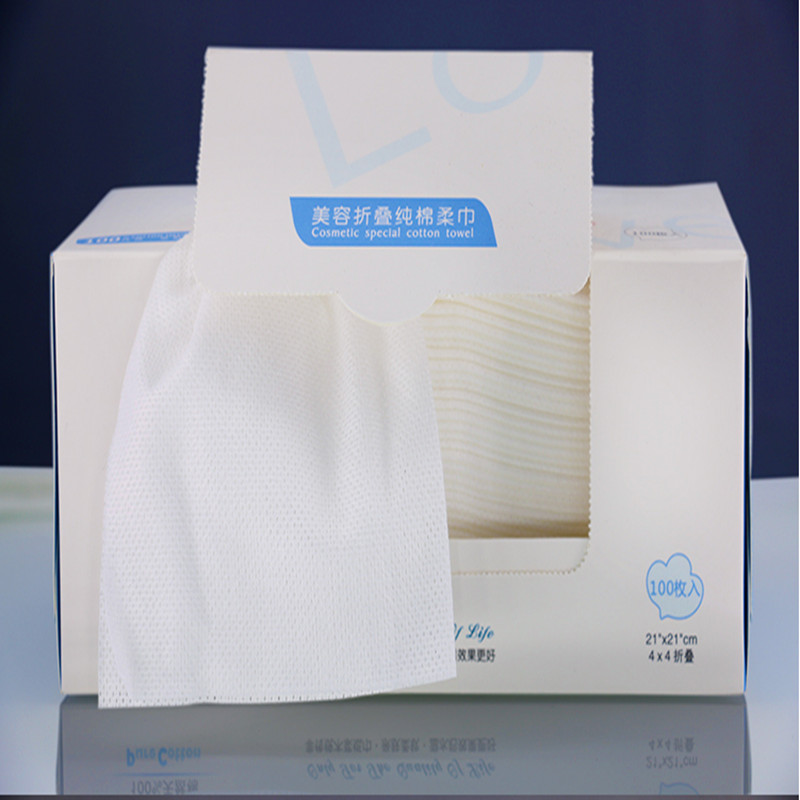 100pieces 100% cotton pulp Towel disposable cleansing wipes beauty special a Facial Tissue Makeup cotton 100