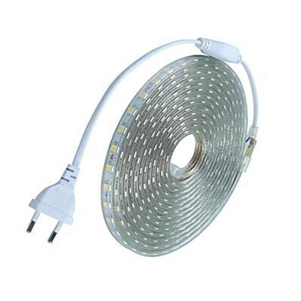 LED Strip Lampu AC220V Indoor dan Outdoor IP65 Tahan Air Fleksibel Rope Light dengan Plug-In untuk Taman Lemari Dapur dekorasi