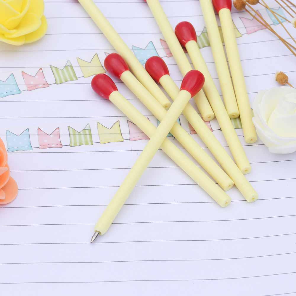 TOMTOSH novelty matchstick ballpoint pen joke school supplies match pens stationery